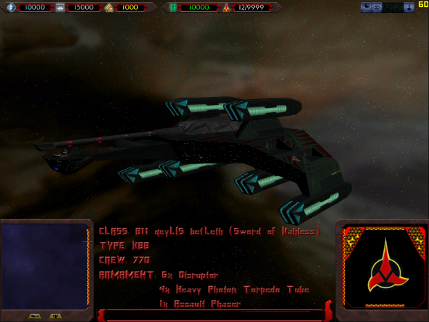 B11 qeyLIS bet'Leth (Sword of Kahless) Class