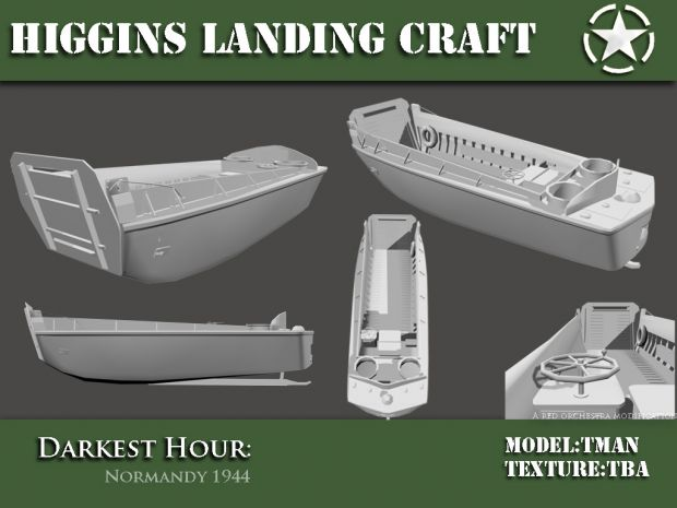 Higgins Landing Craft WIP image - Darkest Hour: Europe '44-'45 mod for Red Orchestra: Ostfront ...