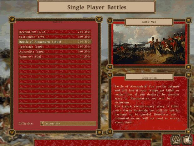Single Player battle