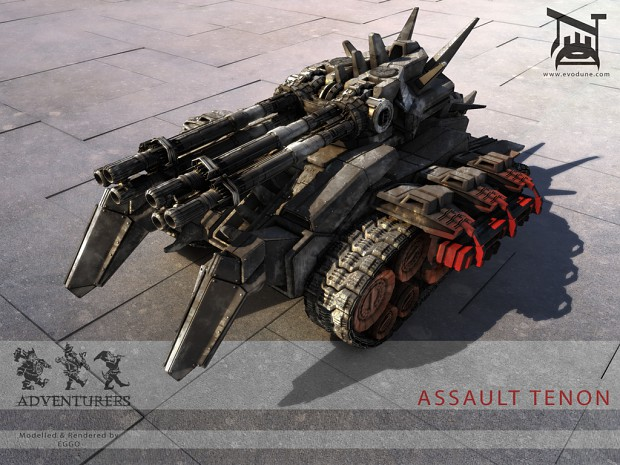 """Assault Tenon"" hi-poly 3D model"