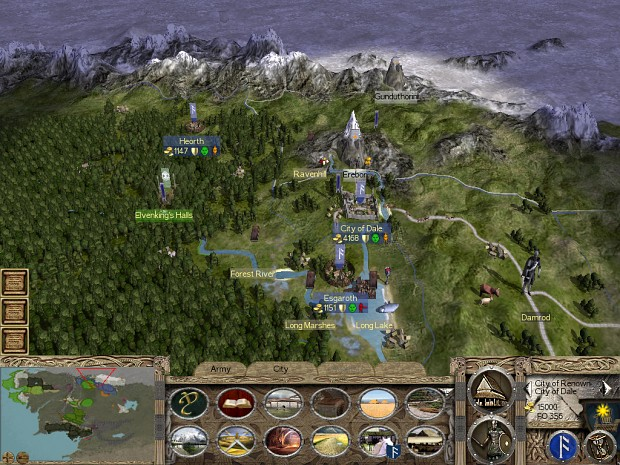 The Fourth Age: Total War - The Dominion of Men Campaign_map