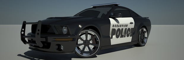 2005 Ford Mustang Police Interceptor - Black (New)
