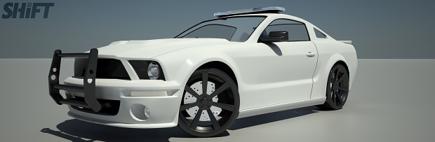 2005 Ford Mustang Police Interceptor - White (Old)