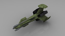 Ancient BattleDrone (Low-Poly Render)