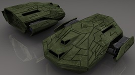 Ancient Troop Carrier (High-Poly Render)