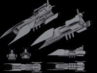 Aschen battle ship, concept No. 2