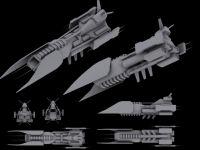 Aschen battle ship, concept No. 2