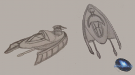 Goa'uld hover tank concept - front view