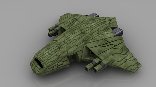 Ancient Heavy Fighter (LowPoly-Render)