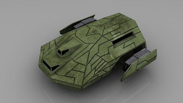 Ancient Troop Carrier (Low-Poly Render)