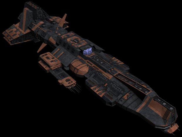 Asuran Aurora-class battle ship (in-game ready)
