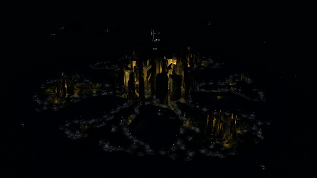 Atlantis by night Render