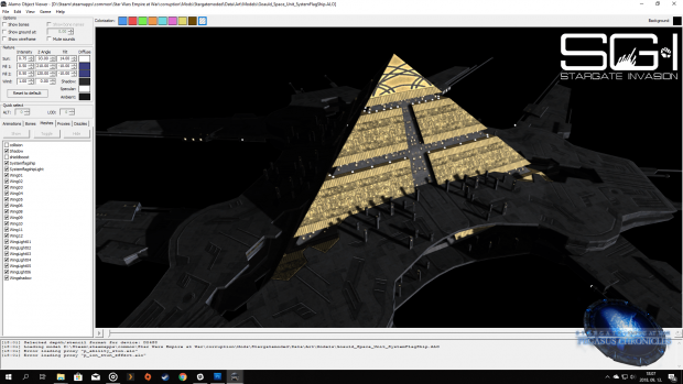 Goa'uld ship model update