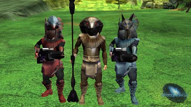 Goa'uld Jaffa trio