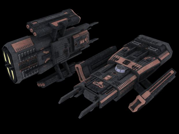 Asuran corvette (high-poly)