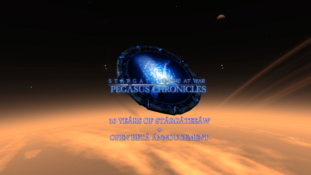 10 years of #StargateEaW celebration! Open beta?!