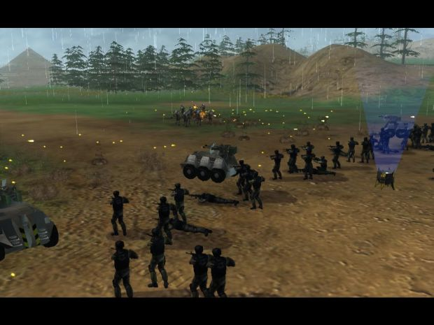 Ground battle scene