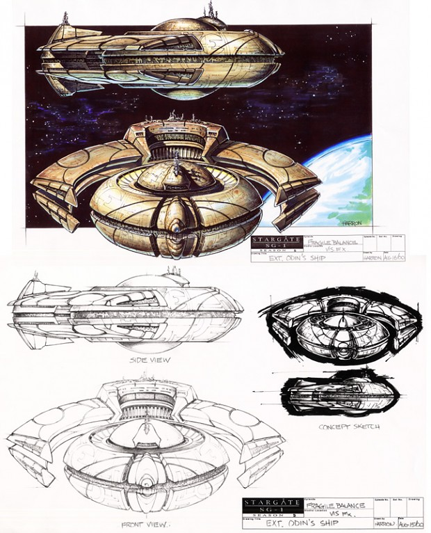 New Asgard ship - Artwork