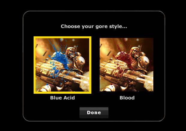 Gunreal Gore Choices