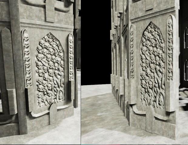 Basilica Skull Wall Test