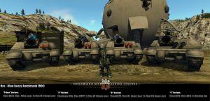 Oro battle tank - four variants