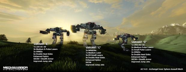 Archangel Variant Lineup CDE