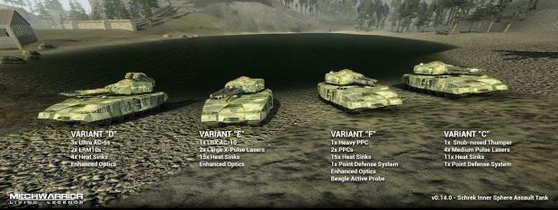 Schrek Variant Lineup DEFG
