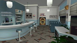1955 Lou's Cafe - In Game - Night