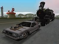 BTTF III DeLorean in game shots