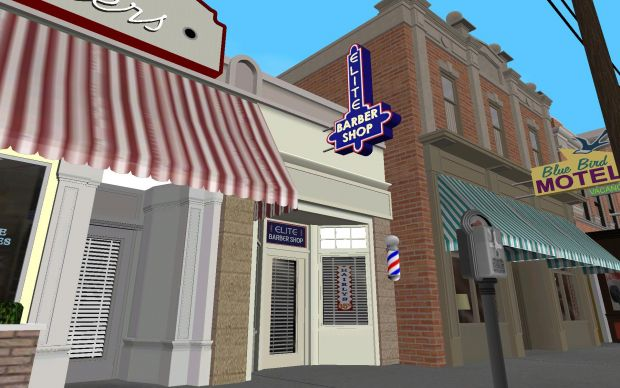 Barber Shop Games : 1955 Elite Barber Shop - In Game - Day image - Back to the Future ...