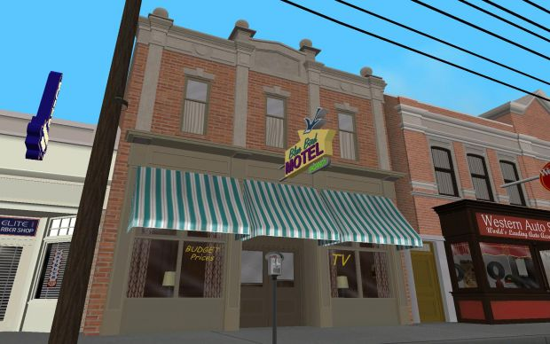 Grand Valley Auto >> 1955 Blue Bird Motel - In Game - Day image - Back to the Future: Hill Valley mod for Grand Theft ...