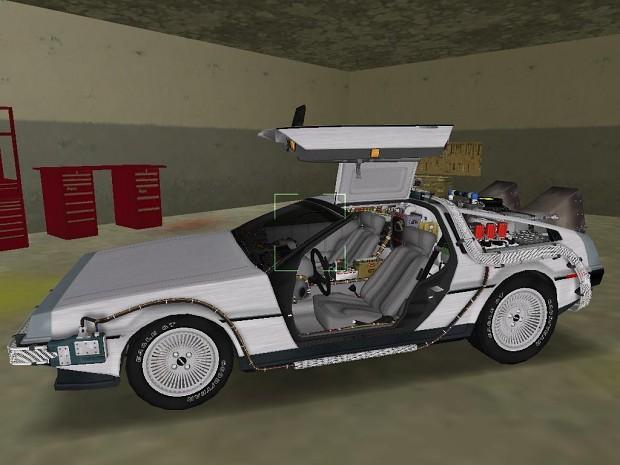 BTTF DeLorean in game shots