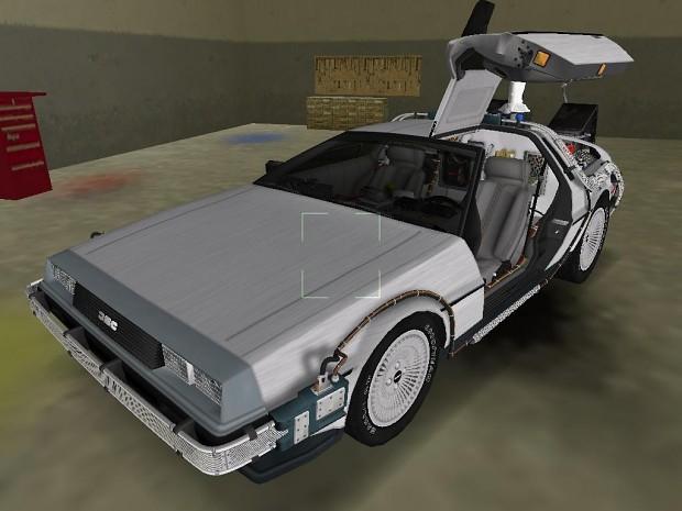 BTTF II DeLorean in game shots