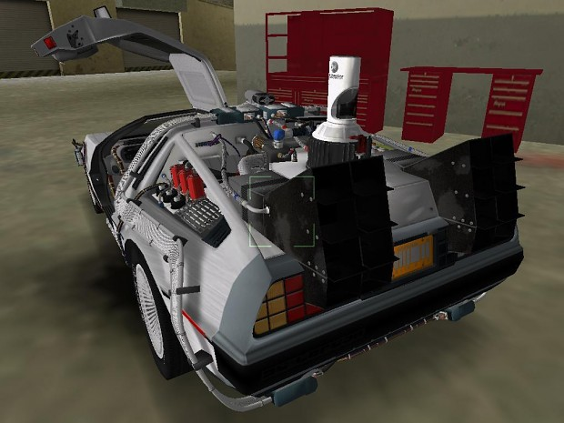 BTTF II DeLorean in game shots