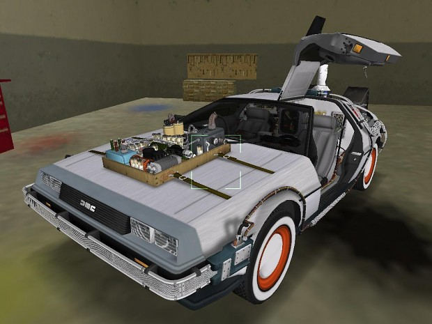 BTTF III DeLorean in game shots