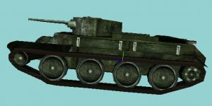 BT-7 russian light tank finished model