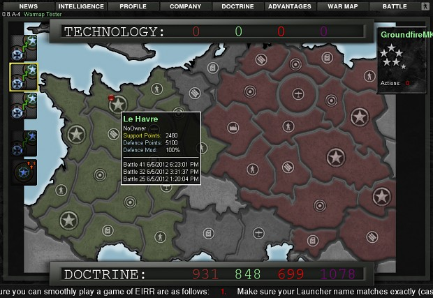Warmap internal beta