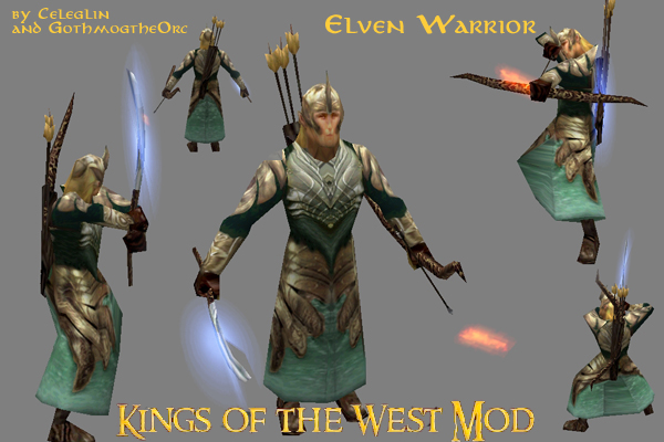 Elven Warrior Render