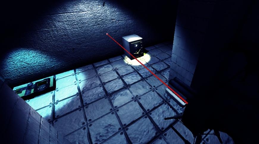 Laser Detector On.