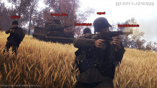 In-game soldiers firing at the H&G devs and players