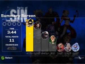Summary Screen