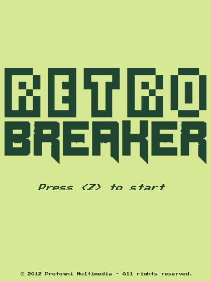 RetroBREAKER Title Screen