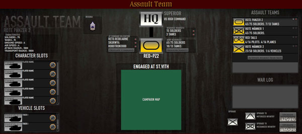 The current mockup of our upcoming revamp of the Assault Team Screen
