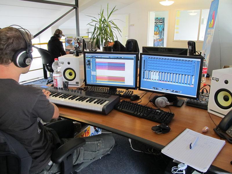 Stefan composing