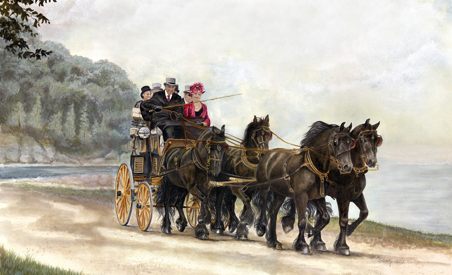 Horse Carriage Painting Horse Carriage Painting c