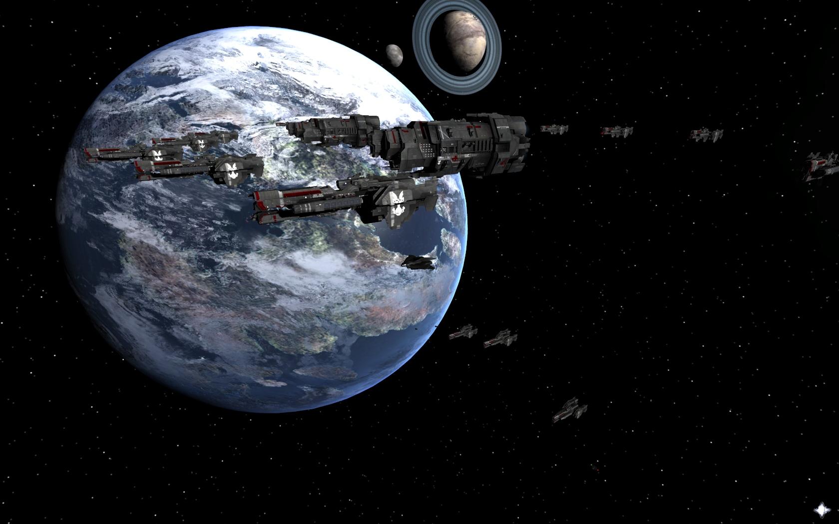 Defense fleet over Reach