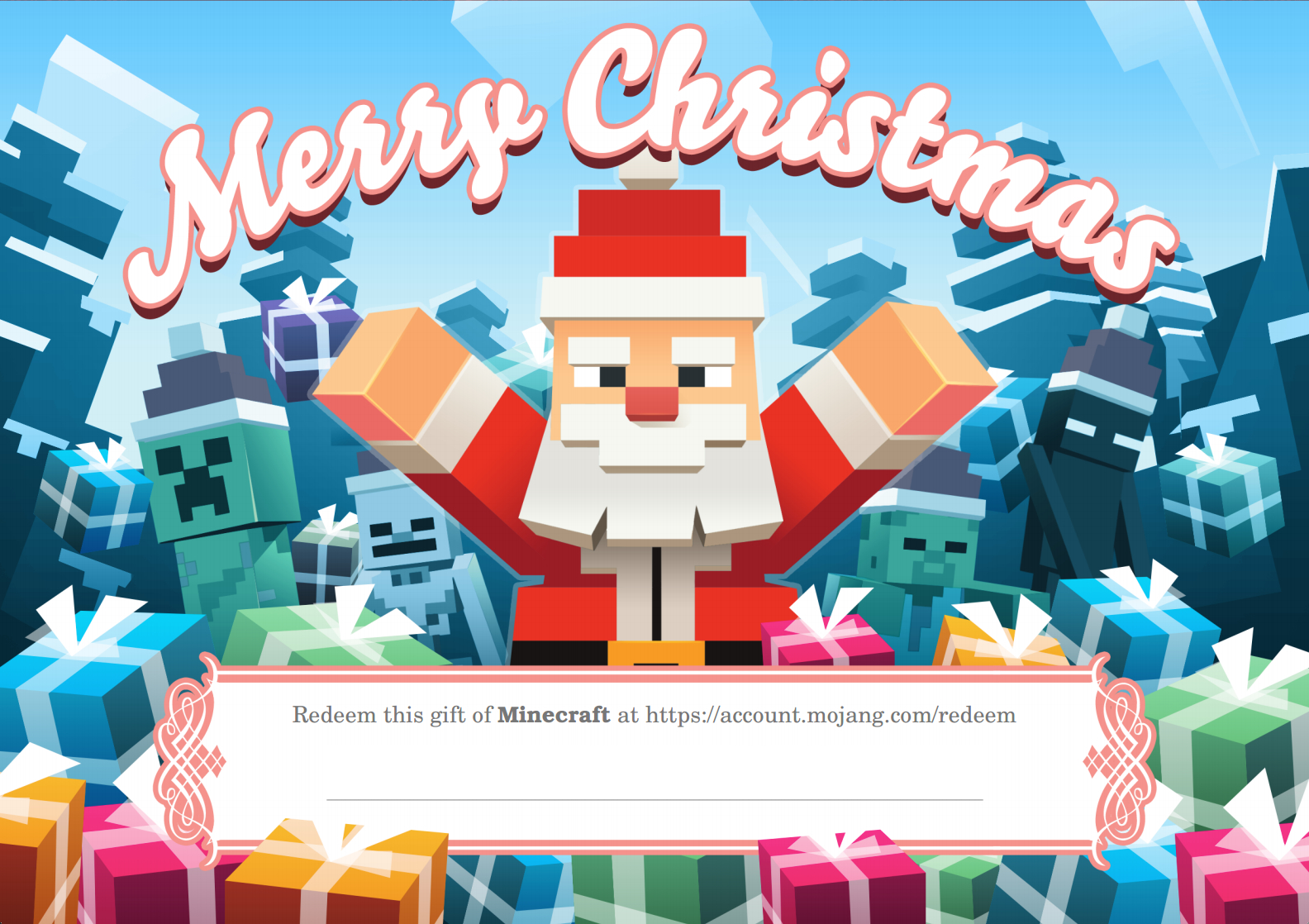 Giving the gift of Minecraft? Do it with festive style… news - Mod DB