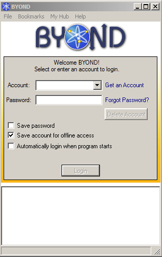 Log-in client