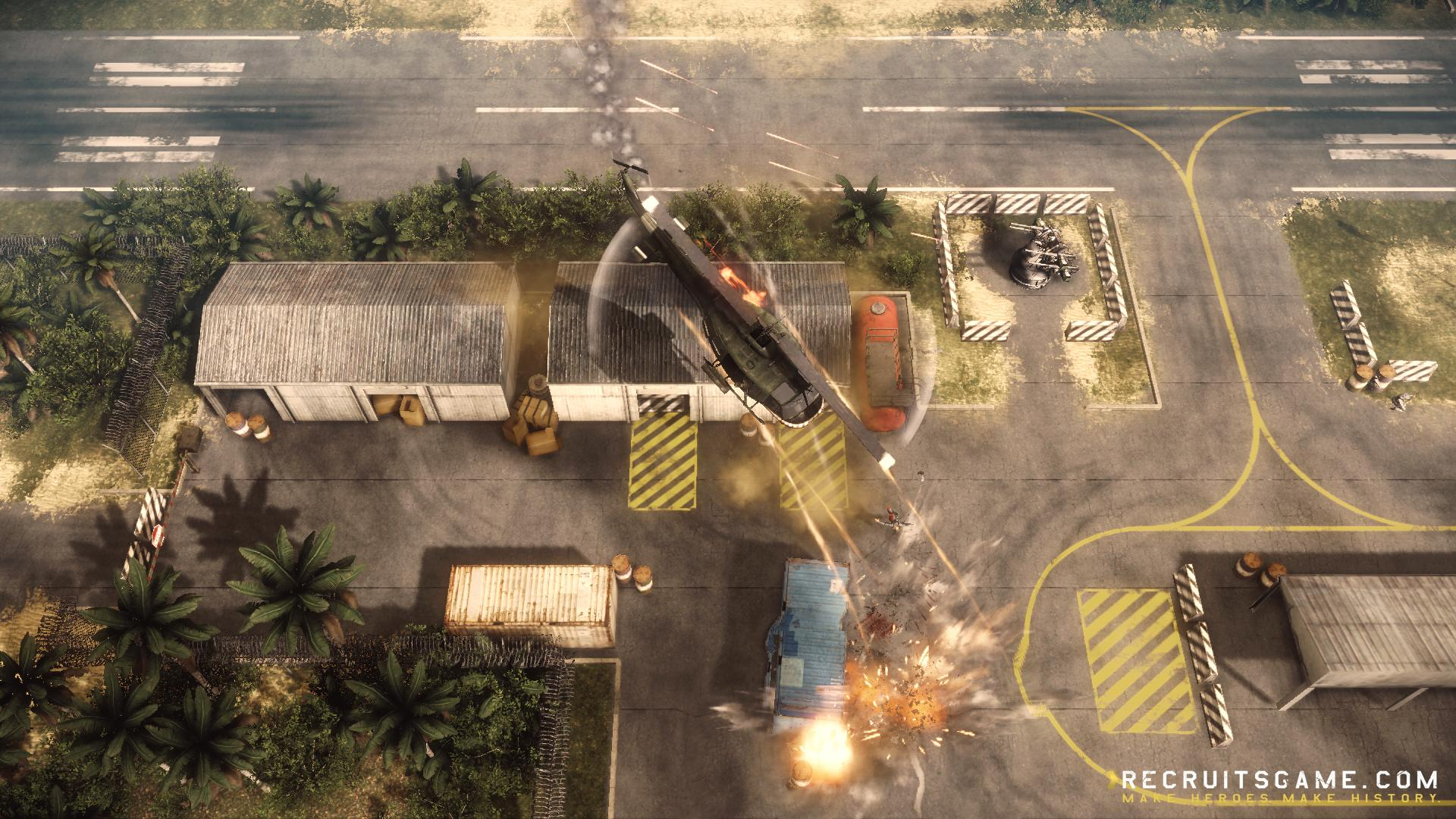 Recruits alpha v0045 helicopter level and more news indie db there are new enemy aa guns that can be deadly if you are to close and also helipads where you can land and repair your helicopter if need be sciox Image collections