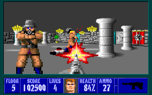 Wolfenstein 3d windows dos game mod db for Wolfenstein 3d